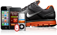 image iphone + ipod + baskets Nike et puce Nike +